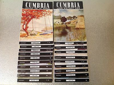 Cumbria Lake District Lakeland Monthly Magazines 1970's 19 Issues