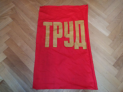 "!!! USSR red flag demonstration title LABOR 31*19"" good quality"