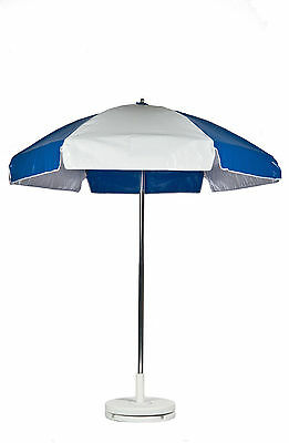 Frankford 6.5' Diameter Cart Umbrella - Blue and White Vinyl