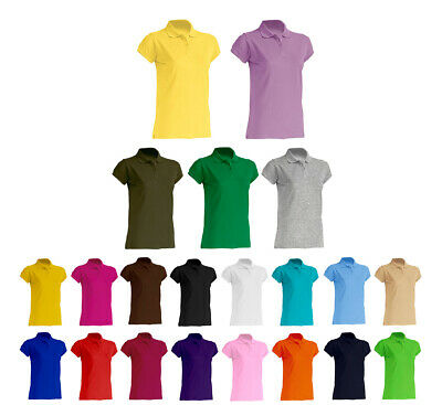 Damen Polo Shirt Polshirt Hemd Regular Fit Pique Polo