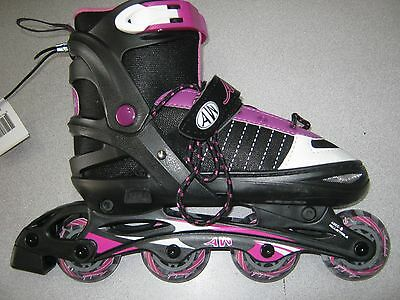 Aw Aerowheels Adjustable Inline Rollerblades Nwt-Sizes 5,6,7,8 Free Shipping!!