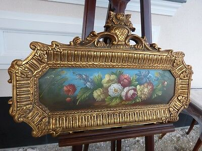 Oil Painting On Canvas In Beautiful Gold Frame - Flovers5