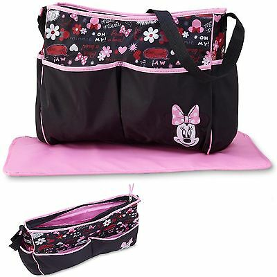 Disney Baby Diaper Bag Minnie Mouse Tote Organizer Changing Pad Travel Girl 1d