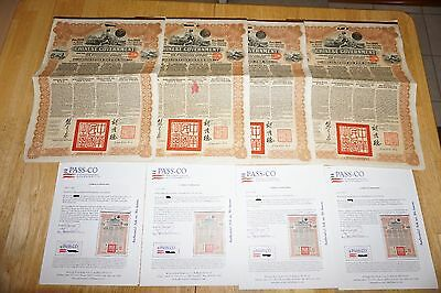 SUPER RARE 1913 CHINA REORG £20 GOLD BOND w COUPONS