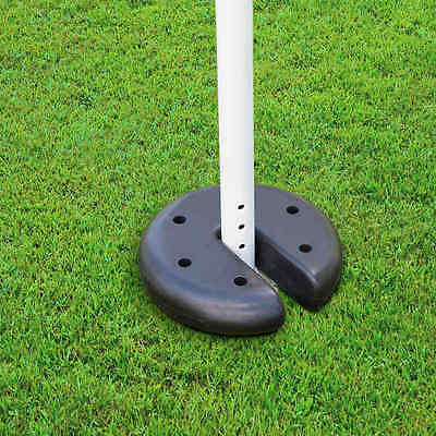 New Black Gazebo plastic coated cement Weight Plates 20cm - 4 Pack