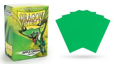 Dragon Shield Matte Apple Green 100 protective Sleeves Hüllen Standard Save Card
