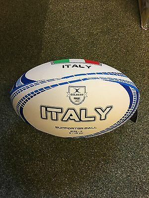 Gilbert Official Italy Supporters Rugby Ball Size 5