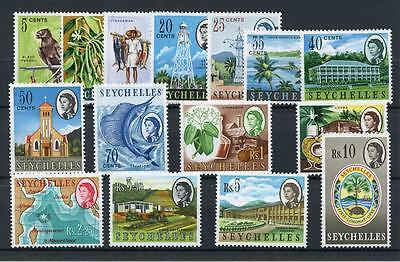 Seychelles 1962 set as issued MNH SG196/212 (exc later issues )