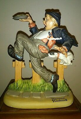 Danbury Mint NORMAN ROCKWELL 1980 Caught In The Act