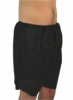 Silk Mens Pure Silk Boxer Shorts Disposable Trunks Gift Underwear Black 6 x New