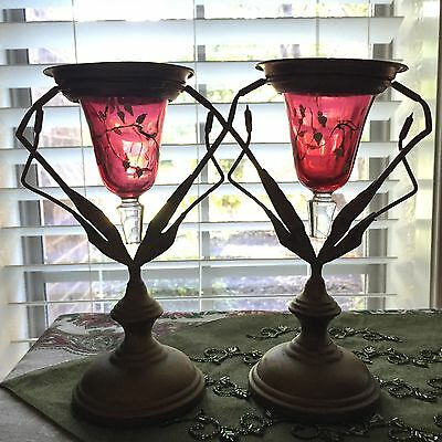 Stunning Art Nouveau Deco Victorian Vintage Candle Holder Votives