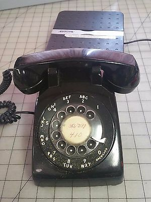 Vintage MM Bell System Western Electric Black Metal Rotary Dial Phone 500 R84-5