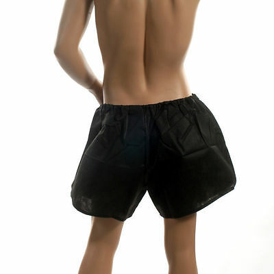 8 X Pro Salon Disposable Spa Client Pro Treatment Boxer Shorts Pure Silky Black