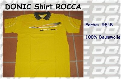 DONIC Polo Shirt Rocca yellow/schwarz 100% Cotton - new