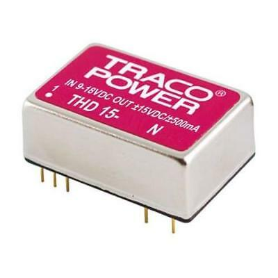 1 x TRACOPOWER Isolated DC-DC Converter THD 15-4813N, Vin 36-75V dc, Vout 15V dc