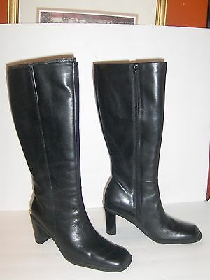 Naturalizer Black Knee High Boot Trinty Women's Size 6M 889N69 Leather Upper NEW