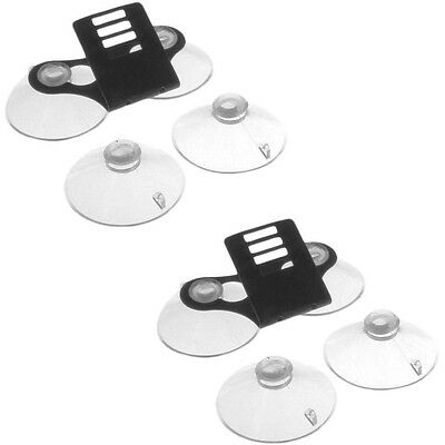 Windshield Bracket w/ 4 Suction Cups For Escort Passport Radar Detectors-2 Pack!