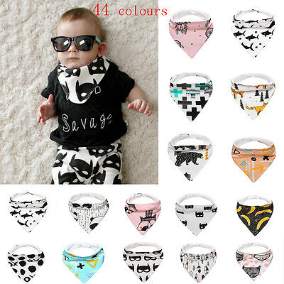 Unisex Infant Baby Boy Girls Bandana Triangle Dribble Bib Waterproof Cotton Bibs