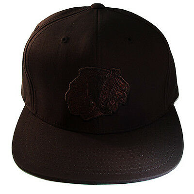 Mitchell & Ness NHL Chicago Blackhawks Classic Strapback Hat with Dark Brown Cap