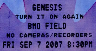 GENESIS Full Ticket 2007-Unused -1st and Only Concert ever at BMO Field, Toronto
