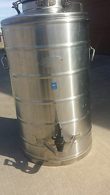 super chef stainless steel military 10 gallon beverage cooler