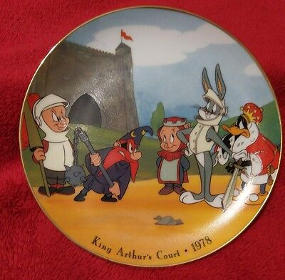 1993 BUGS BUNNY in KING ARTHUR'S COURT WARNER BROTHERS LOONEY TUNES PLATE