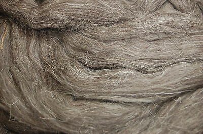 Dark Grey Herdwick natural wool roving / tops - Hand spinning needle felting