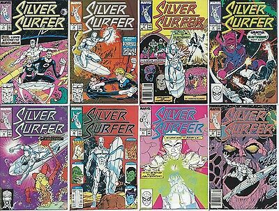 LOT of 8 SILVER SURFER (MARVEL COMIC BOOK COLLECTION) Fantastic Four Galactus