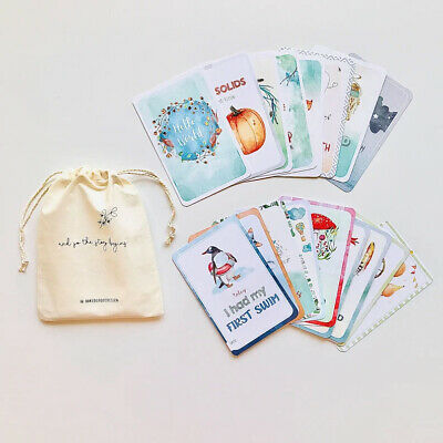 NEW - Watercolour Themed Baby Milestone Cards in Gift Pocket Envelope