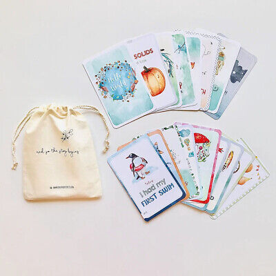 ON SALE! Watercolour Themed Baby Milestone Cards with Pocket Envelope ✔️
