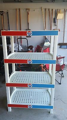 Vintage Pepsi Plastic Advertising Store Display Shelf Bottle Stand