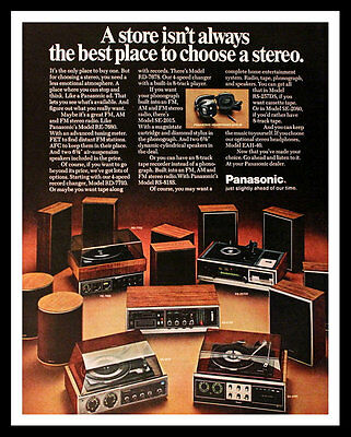 1972 Panasonic Audio Ad - Phonograph - Stereo Equipment - Vintage Advertising