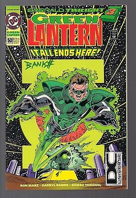 Green Lantern #50 Signed by Darryl Banks W/COA 1st Appearance of the Parallax DC