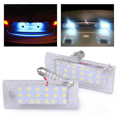 New 2x / Pair Car Error Free LED License Plate Light Lamps for BMW X5 E53 X3 E83