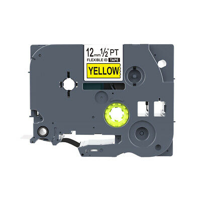 Black on Yellow Cable Flexible Label Tape Compatible Brother TZ-FX631 TZe-FX631