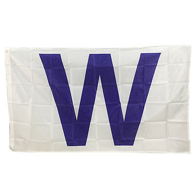3x 5 feet Indoor Outdoor Chicago Cubs Fans W Flag Win Banner Baseball Team New