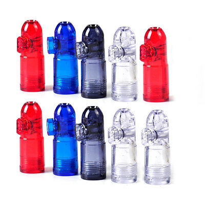 10x Useful Snuff Bullet Box Dispenser Snuffer Acrylic Glass Bottle Snuffer Sniff