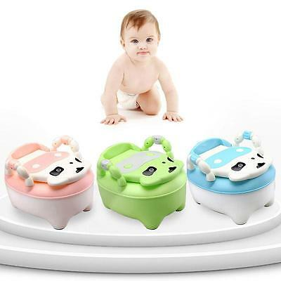 Unique Cow Pattern Baby Potty Urinal Toilet Trainer Kid Chair Seat Bench US HY