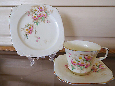 "Paragon ""Cherry Blossom"" Trio X2893 Made In England 1930s"
