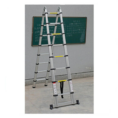 16.5FT Aluminum Telescopic Extension Ladder Tall Multi-Purpose Scaffold Duty