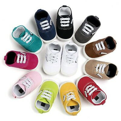 Newborn Baby Girl Boy Soft Sole Shoes Toddler Kids Sneaker Shoes Prewalker 0-18M