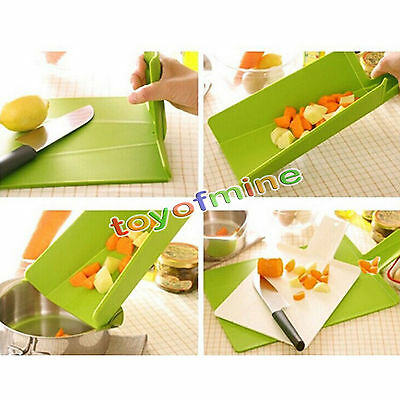 Folding Chopping Cutting Board Set & Holder Assorted Cook Kitchen Gadgets Tools