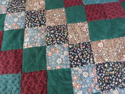 Country Cottage Hand Stitched Quilting Patchwork Bedspread 245 x 265cm