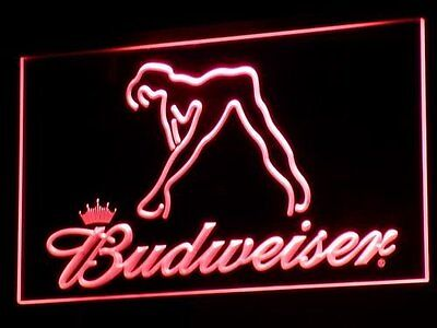 "Budweiser Red 12"" x 8"" Led Sign Bar Pub Mancave"
