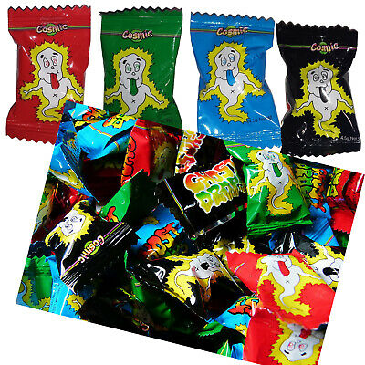Bulk 100 x Cosmic Ghost Drops Lollies Wrapped Sweets Candy Party Favours Buffet