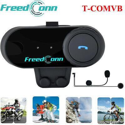 800M Bluetooth Intercom BT Motorrad Helm Gegensprechanlage Sprechanlage Headset