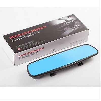 "HD 2.8"" Dual Universal Auto Rear View Mirror Safety Dash Cam Recorder 1080P"
