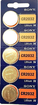 Sony CR2032, Lithium Coin Case LOT DE 5