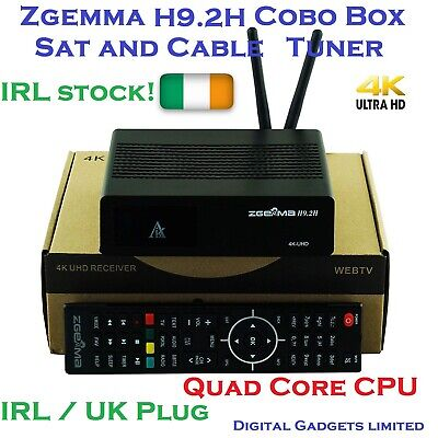 Zgemma H9.2H Combo Sat + Cable Tuner 4K Quad Core H92H WiFi Build in IRL !