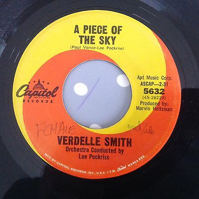 Verdelle Smith-A Piece Of The Sky-On Capitol 5632. Vg